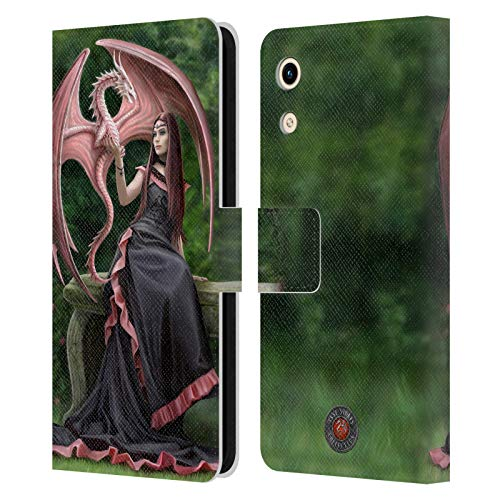 Head Hülle Designs Offizielle Anne Stokes Elegant Drachen Freudenschaft Leder Brieftaschen Handyhülle Hülle Huelle kompatibel mit Huawei Honor Play 8A