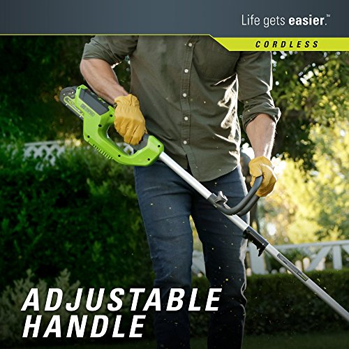 Greenworks 12-Inch 40V Cordless String Trimmer, 2.0Ah Battery and Charger Included 2101602