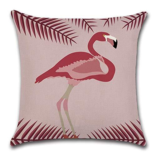 Kussen LKU Decoratief kussen vogel patroon flamingo vierkant sierkussen kussen sofa bank, 45x45cm