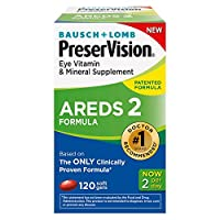 PreserVision AREDS 2 Vitamin & Mineral Supplement, Soft Gels 120 ea by PreserVision