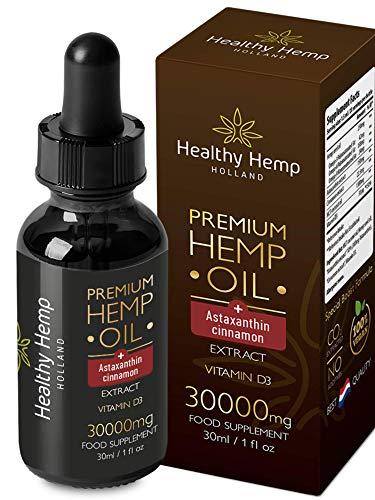 Healthy Hemp Holland – 30ml Special Boost Hemp Oil Drops with Astaxanthin and D3 – High Concentration Formula – Immunity Boost, Muscle and Bone Health