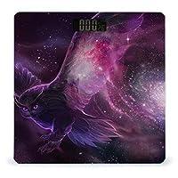 紫のフクロウは天の川にいます LCDディスプレイ付き高精度スマートフィットネススケール体重デジタルバスルームボディスケール