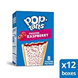 Pop-Tarts, Breakfast Toaster Pastries, Frosted Raspberry, Proudly Baked In the USA, 96Count (Pack Of 12, 13.5 Oz Boxes)