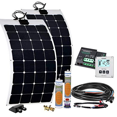 Offgridtec© Wohnmobil Solaranlage SPR-F 200W 12V EBL optional