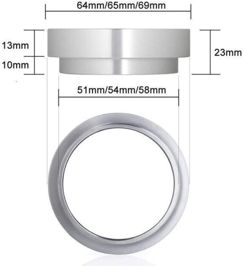 XCSM Embudo dosificador expreso Anillo dosificador de caf/é de Aluminio para portafiltros 51 54 58 mm