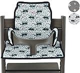 Coussin pour chaise haute pour Stokke Tripp Trapp Janabebe (Raccoon)