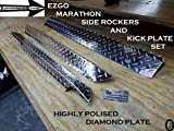 J & O Carts Parts EZGO Marathon Aluminum Diamond Plate Side Rocker Panels & Kick Plate