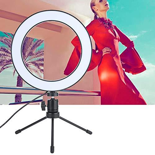 DAUERHAFT Fuente de luz LED Lámpara de Relleno de Video LED de decaimiento de luz Baja Negra de 8 Pulgadas Luz de Video LED, para Diferentes situaciones de Disparo