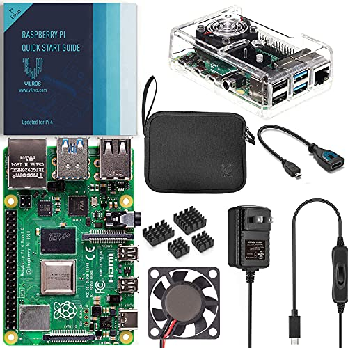 Vilros - Kit completo Raspberry Pi 4 con caja transparente enfriada por ventilador