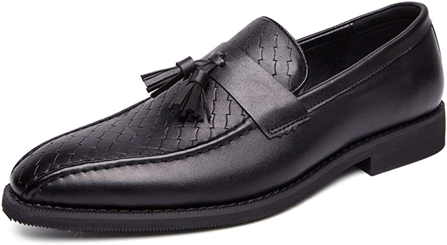Gobling Oxford shoes for Men Formal shoes Slip On Style OX Leather Delicate Texture with Classic Tassel Fashion Driving Loafers Casual Flexible Personality Texture Simple Round Toe Boat Moccasins
