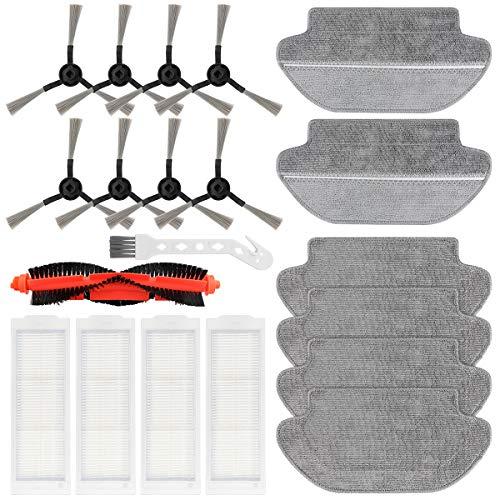 Datyeco 20 Stück Zubehör Filter Wischtücher Bürste Ersatzteile für Xiaomi Mi Robot Vacuum Mop Pro Saugroboter Roboter