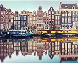 WANXM Amsterdam Architecture 3000 Piezas Rompecabezas Juguetes educativos Rompecabezas Educativo Juguete para niños Adultos