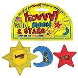 Ducky World Yeowww Sun Moon Star Cat Toy Juego de 3 Piezas orgánicas Catnip