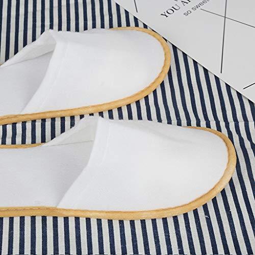 Hotel Wegwerp Slippers Spa Slippers 100 paar Spas Slippers Sauna Thuis gastvrijheid Wegwerp Trek Doek EVA Anti-slip Slippers 27.5 * 11cm*4mm White 100Pairs
