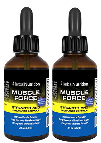 Muscle Force Strength and Endurance Spray Formula, 2 Bottle Pack, 200mg Proprietary Growth Formula, 2oz Per Bottle