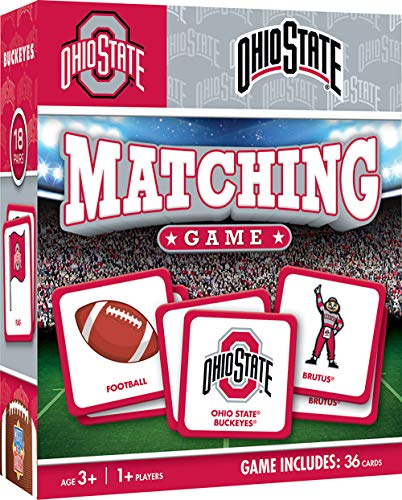MasterPieces NCAA Ohio State Buckeyes Matching Game, For Ages 3+