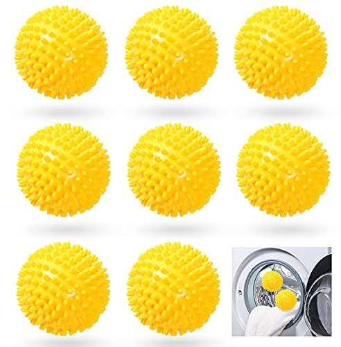 8 Stücke Trockner Ball,Trocknerkugeln Duft,Trocknerbälle für Wäschetrockner,Kugeln für Flauschigere Wäsche,Wiederverwendbare Dryer Balls,Wäsche Wäschetrockner Trocknen Ball