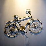 NLQZS-Y Loft Retro Creativo Modelo de Bicicleta Decoración de Pared Creative Bar Cafe Restaurant Decoración de Pared Bronze