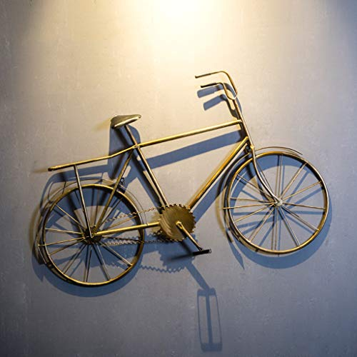 NLQZS-Y Loft Retro Creativo Modelo de Bicicleta Decoración de Pared Creative Bar Cafe Restaurant Decoración de Pared Bronze