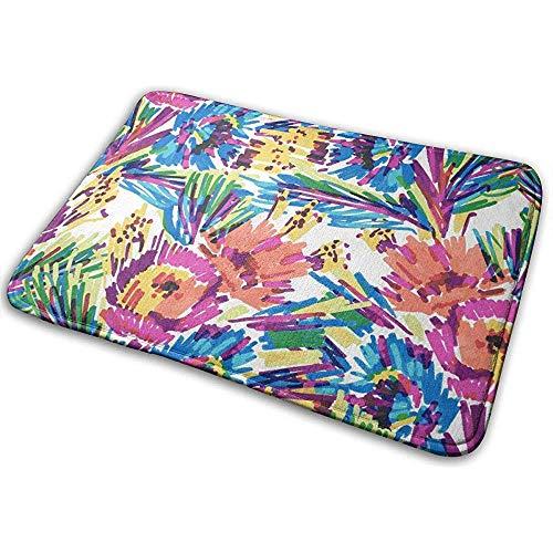 SESILY gestileerde bloemen geschilderd markeerstift deurmat ingang tapijt vloermatten niet Slip tapijt zware Duty deur mat 40 X 60 CM