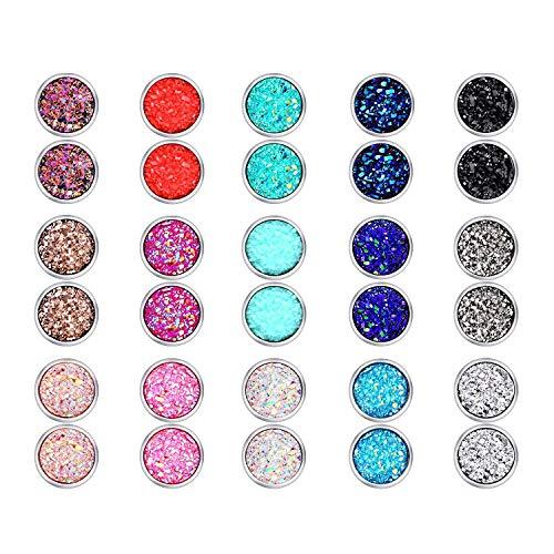 Legering zilveren oorstekers set 20 paar eenvoudige kristallen zilveren oorstekers voor heren dames oorbellen sieraden