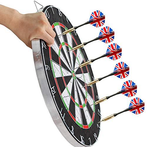 Dart board dart board double-sided flocking professional dart board set professional 18 inch dart board-Digital dart board + 6 standard
