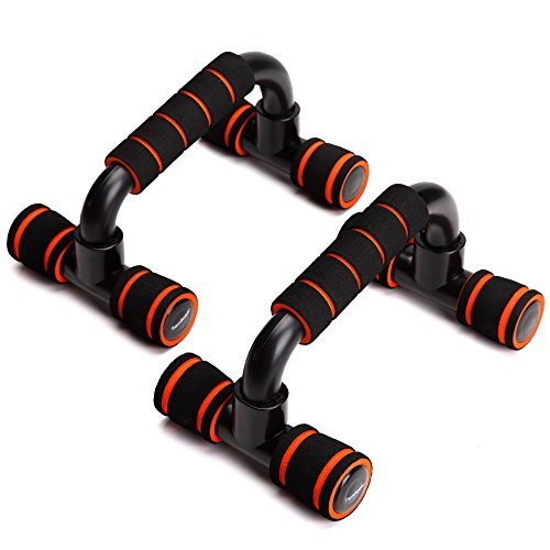 Readaeer --pushup bar ,soporte para flexiones, negro (naranja)