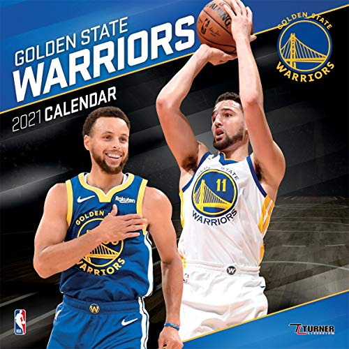 TURNER Sports Golden State Warriors 2021 12X12 Team Wall Calendar (21998011878)