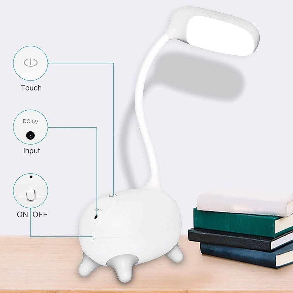 SOFIL Schreibtischlampe f/ür Kinder,Dimmbare Nachttischlampe mit Touchsensor,Augenfreundlich Leselampe,USB Wiederaufladbare Tischlampme f/ür Kinder,M/ädchen