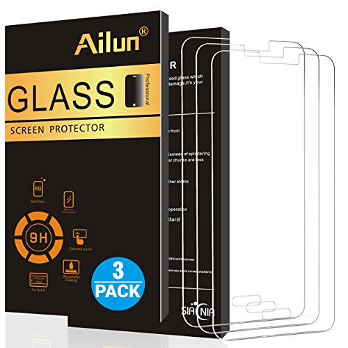 Ailun Screen Protector Compatible with Galaxy S5 3Pack Tempered Glass 9H Hardness 2.5D Edge Anti Scratch Case Friendly Siania Retail Package