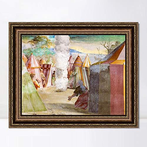 "INVIN ART Framed Canvas Art Giclee Print Series#118 by Raphael/Raffaello Sanzio Wall Art Living Room Home Office Decorations(Vintage Embossed Gold Frame,20""x24"")"