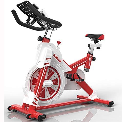 FGONG Vélo d'intérieur vélo d'exercice entraînement par Courroie Vélo Stationnaire avec Moniteur LCD et Coussin de siège Confortable pour entraînement Cardio à Domicile