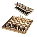 Ceasyde Magnetic Wooden Chess Boards Sets, Premium 15' ×15' Inch Folding Universal Standard Chess Game with...