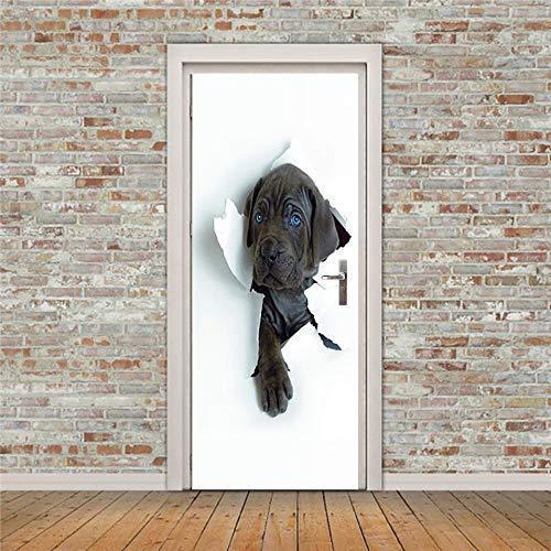 Image Muurschildering Printen Papier Art 3D Herder Pvc Deur Sticker Interieur Lijm Waterdicht Behang Voor De Slaapkamer,White