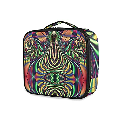 Sub Scramble Whimzwhirled - Bolsa de cosméticos para mujer, bolsa de viaje grande, bolsa de cosméticos, bolsa de cepillo, reutilizable