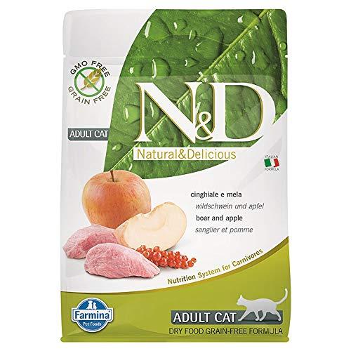 Farmina N&D Katze Getreidefrei Wildschwein & Apfel Trockenfutter Bitte auswählen: 300 gr