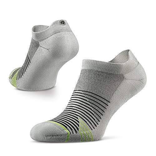 ROCKAY 20four7 Athletic Socken für Männer und Frauen, Performance Polsterung, Knöchelschnitt, 100% recycelt, für Laufsport, Anti-Geruch (1 Paar)