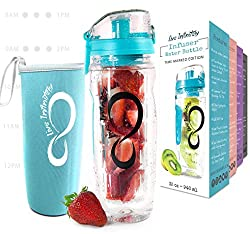 Live Infinitely Fruit Infuser Water Bottles with Time Marker