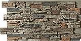 Sedona Faux Stone Panels – Cambridge Gray - 1-Pack - Each Panel is...