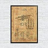 EBONP Dekorative Malerei Geschenk Trompete Leinwand