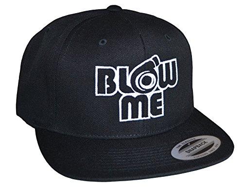 Petrolhead Industries: Blow Me - Cap für alle Tuning-, Drift-, und Motorsport Fans - Classic Snapback von Flexfit (One Size) Schwarz