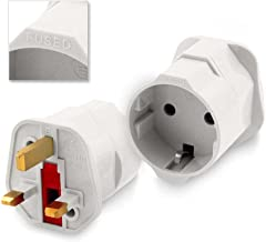 Adaptador Red Enchufe Europeo UE Schuko a UK Ingles Reino Unido Universal Plug