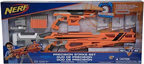 asbro Nerf N-Strike Elite Precision RaptorStrike FalconFire Blasters Deluxe