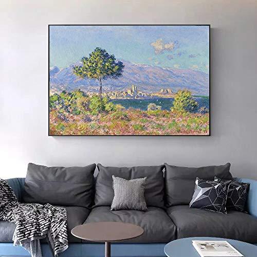 wZUN Famoso Lienzo Arte Pintura impresionista Paisaje Pared Arte Lienzo impresión decoración 60x80 Sin Marco
