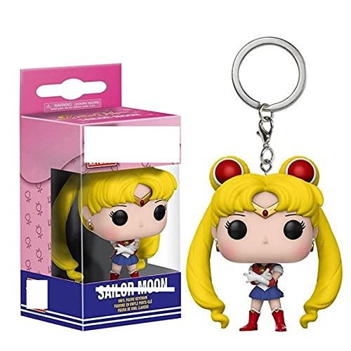 Figuras de Anime Pop Sailor Moon PVC Llavero Figura Colección Modelo Juguetes niños 5Cm