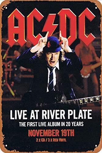 La plaque vintage en métal AC/DC Live at River Plate