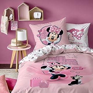 Minnie Parure de lit Housse de Couette 140X200 + Taie d'oreiller 63X63 Cm 100% Coton Downtown