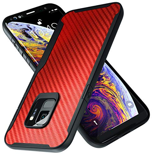 Samsung Galaxy S9 Case | 10ft. Drop Tested | Carbon Case | Ultra Slim | Lightweight | Scratch Resistant | Wireless Charging | Compatible with Samsung Galaxy S9 - Red