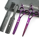 6.0 Zoll Haarschere Set Haarschneideschere & Ausdünnungsschere mit k?mmen in 1 Satz