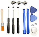 Games&Tech 3 x Micro USB Charging Port Charger + Tools for Samsung Galaxy Tab E SM-T560NU SM-T561 Tablet